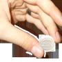 Une pastille magique : la lingette rince-doigts ZEN