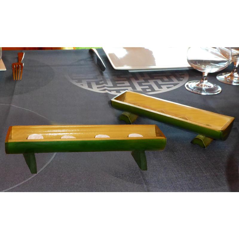 Rince doigts zen lot de 2 pr sentoirs pour 8 couverts v ritables bambous - Lot de couvert de table ...