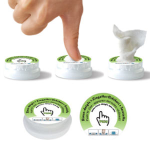 La lingette magique compressée en pastille rince-doigts zen en capsule